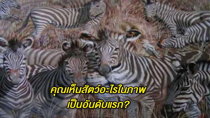 คุณเห็นสัตว์อะไรในภาพเป็นอันดับแรก?  สามารถบ่งบอกนิสัยได้